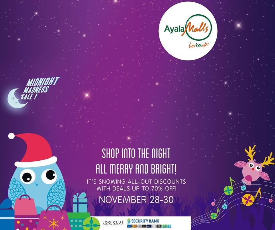 Glorietta Midnight Madness Sale 70% Off – Nov 28-30, 2014