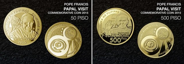 BSP Issues Limited Edition Commemorative Coins for the Papal Visit