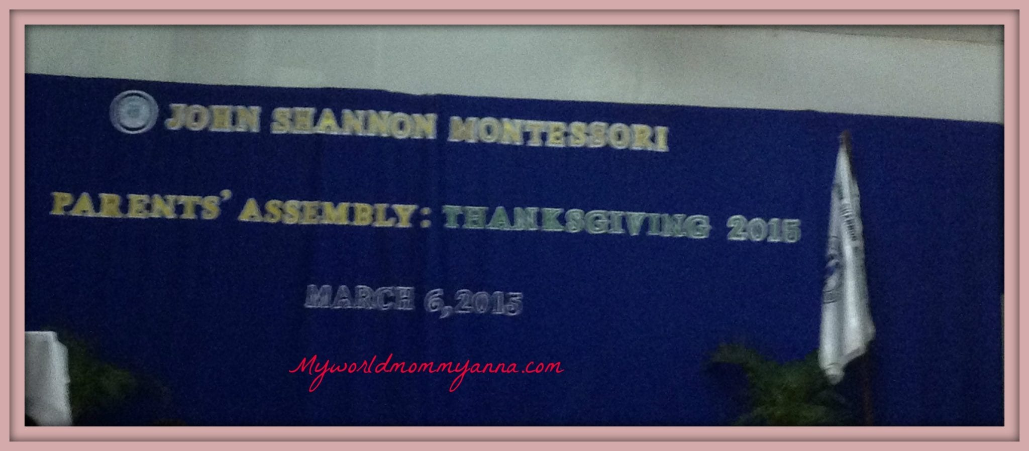 Parent's Assembly and Thanksgiving 2015