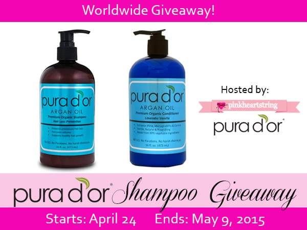 Pura d'or Argan Oil Organic Shampoo Give away