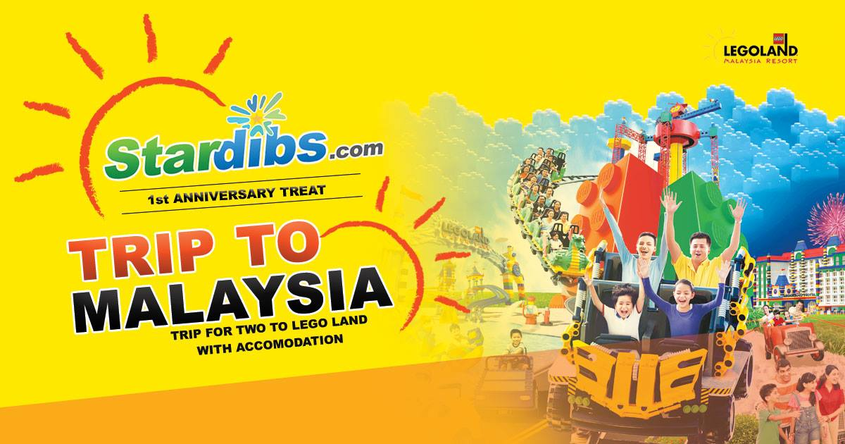Win a trip for 2 to Lego Land Malaysia at Stardibs.com!